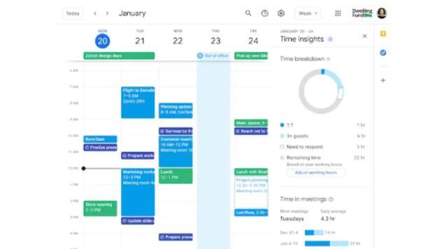 谷歌日历更新:现在知道你花了多少时间在会议上