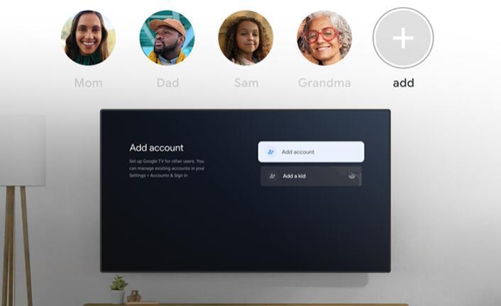 Google TV更新为您家中的每个人提供自己的个人资料