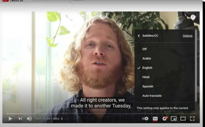 YouTube为所有人推出自动字幕